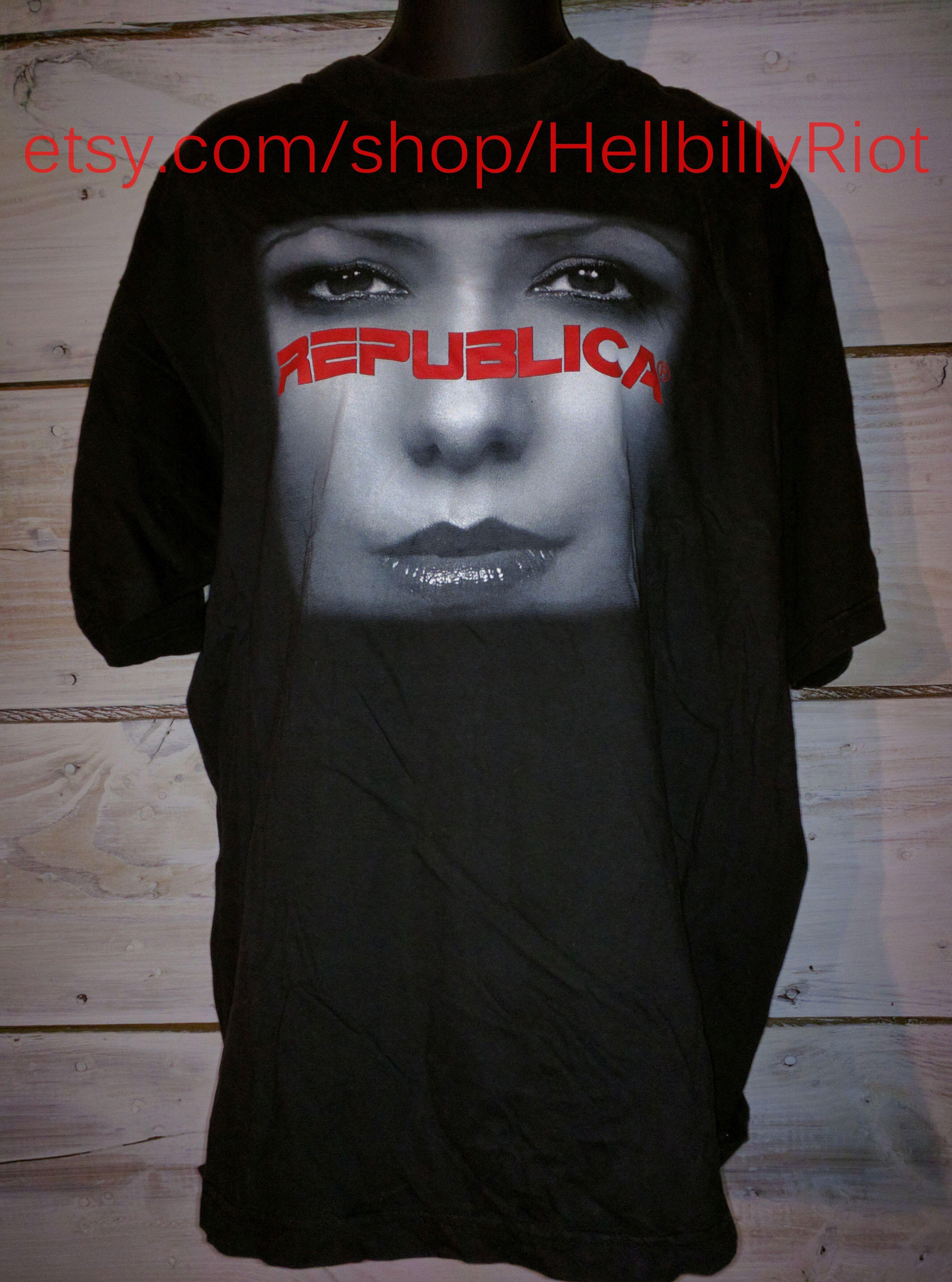 Danny zuko black t shirt - 90 S Britpop Republica Concert T Shirt Europop British Band Rare Vintage Hardcore T Shirt Hxc New
