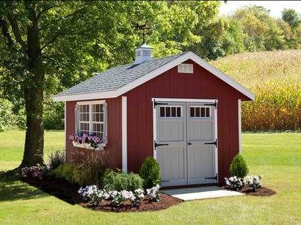 Amish Made Riverside Shed Kit | back yard | Shed landscaping