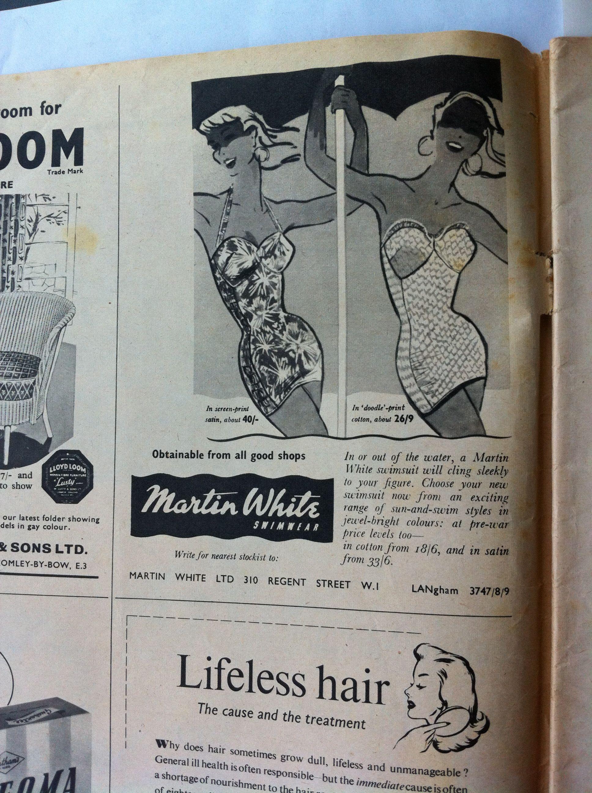 1950s swimwear advert from UK Woman magazine