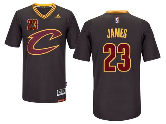 newest collection dddab fe1e5 NBA Cleveland Cavaliers #23 LeBron James Black Sleeved ...