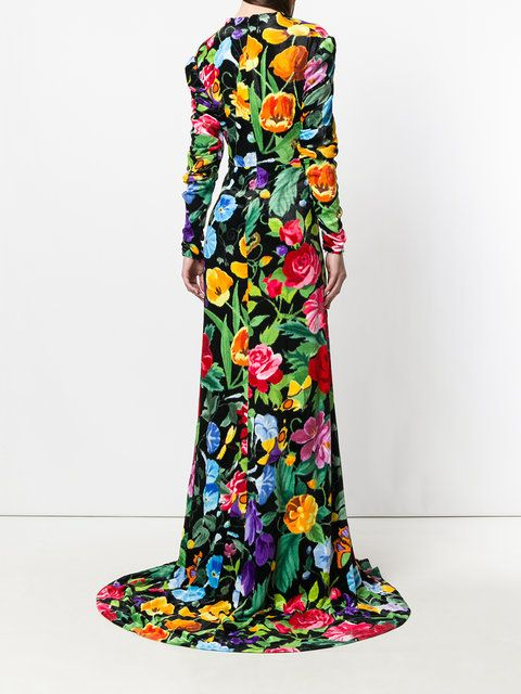 Gucci Floral Evening Gown | Floral evening gown, Gucci floral and Gowns