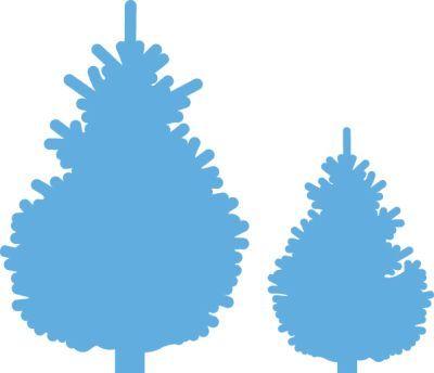 Lr0370 Creatable Pinetree set - Marianne Design Creatables - Mallen - Hobbynu.nl