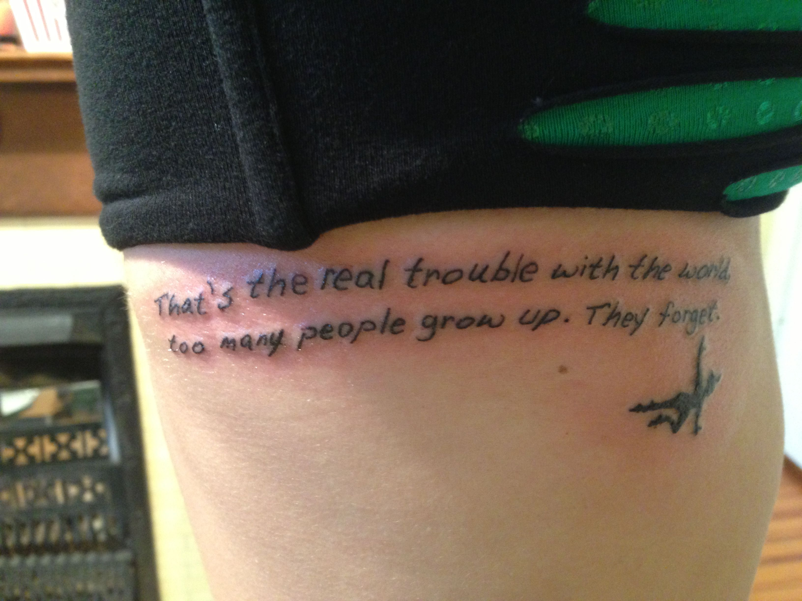 my new disney tattoo walt disney quote peter pan that s