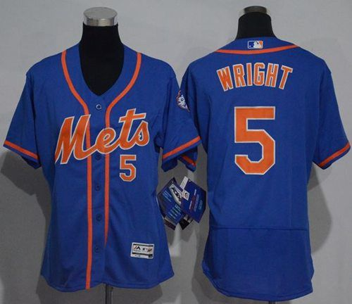 san francisco 470e2 dc86e Women's Mets #5 David Wright Blue Flexbase Authentic ...