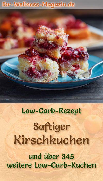 Saftiger Low Carb Kirschkuchen - Rezept ohne Zucker