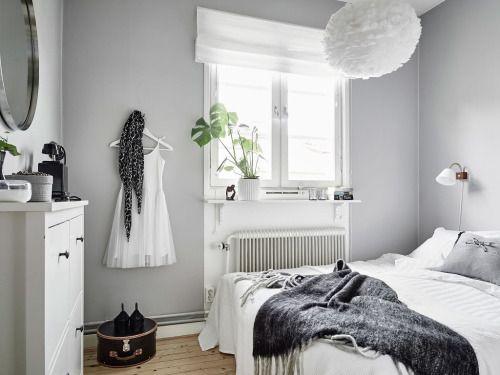 simple grey bedroom