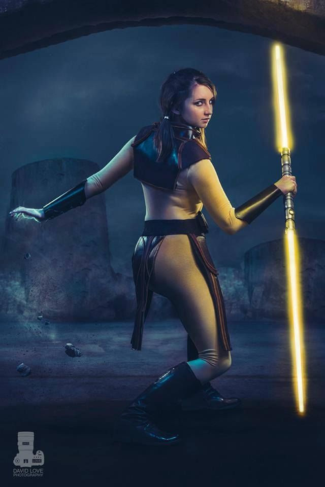 Danica Rockwood as Bastila Shan from Star Wars: Knights of ...