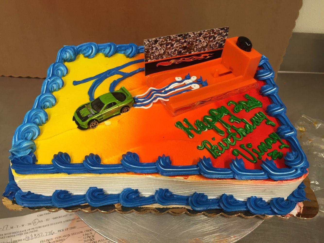 Hot Wheels Deco 1 4 Sheet Cake Ms Cake Boss Hot