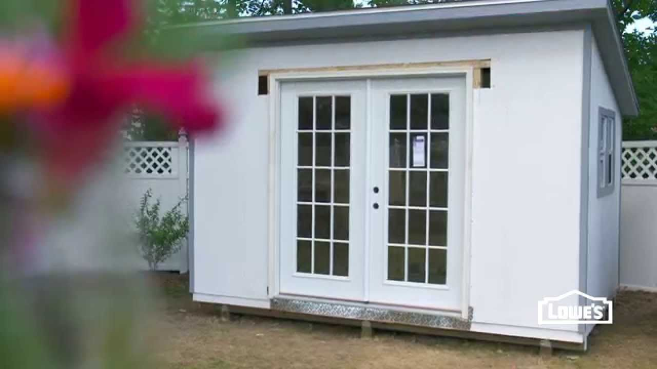 How To Install French Doors In A Shed Home Improvement