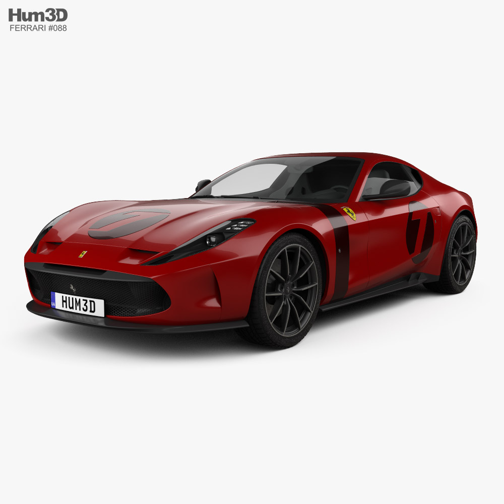 3d Model Of Ferrari Omologata 2020 Available For Download In Fbx Obj 3ds C4d And Other File Formats For 23 Software Model Is 3d Model Car 3d Model Ferrari