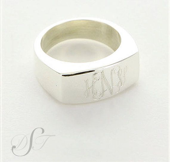 Hey, I found this really awesome Etsy listing at https://www.etsy.com/listing/167061223/sterling-monogram-ring-sterling-signet