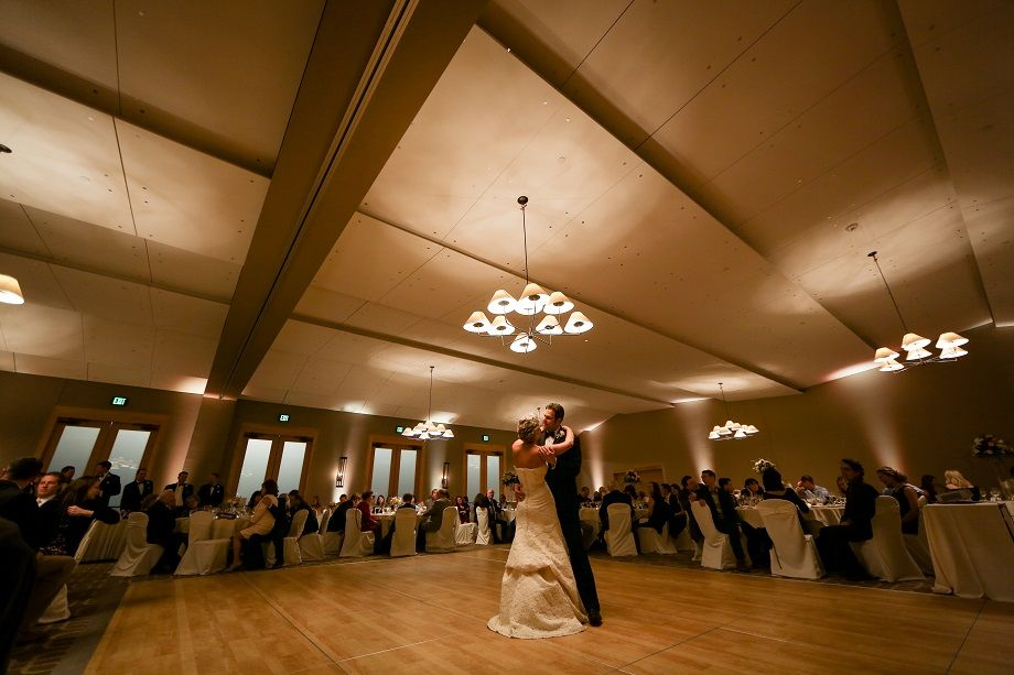 Wedding reception in the Ballroom at Hazeltine National Golf Club