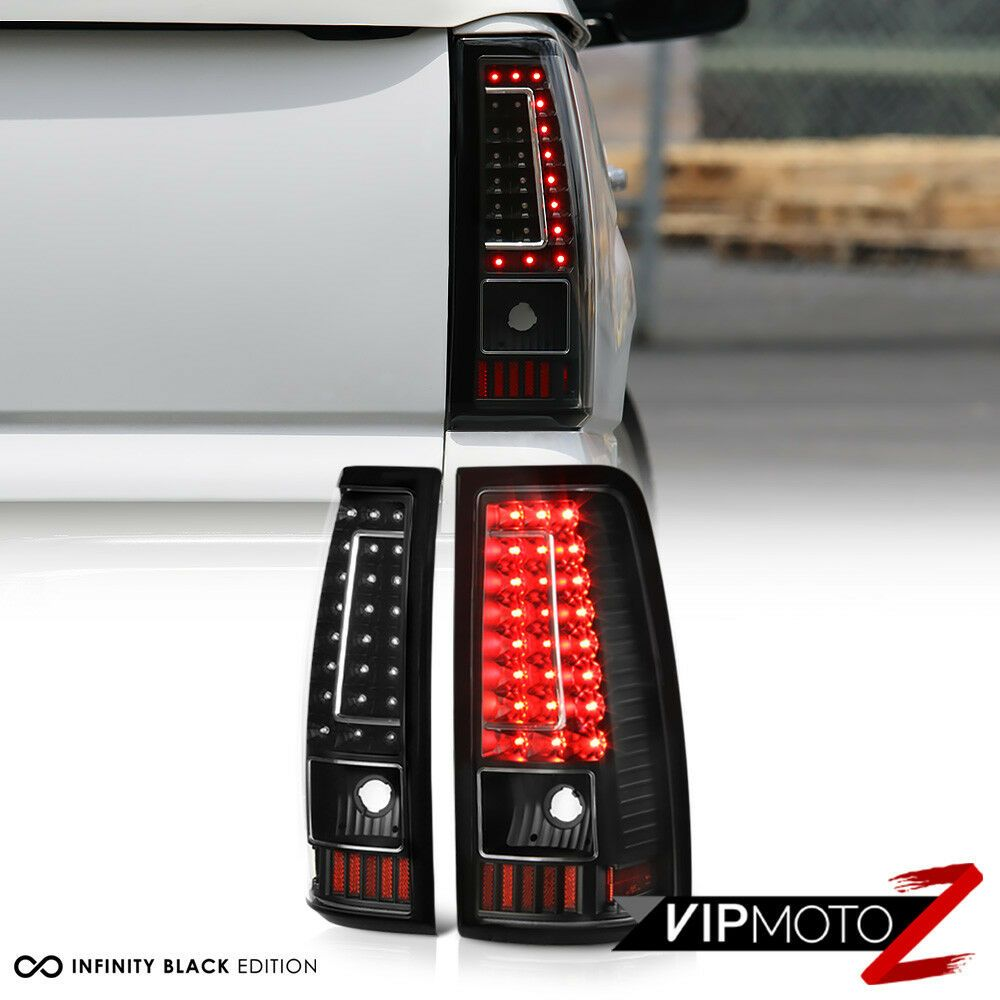 2003 2006 Chevy Silverado 1500 2500 3500 C Shape Black Led Rear Tail Lights Lamp Ebay 2006 Chevy Silverado Chevy Silverado 1500 Chevy Silverado Accessories