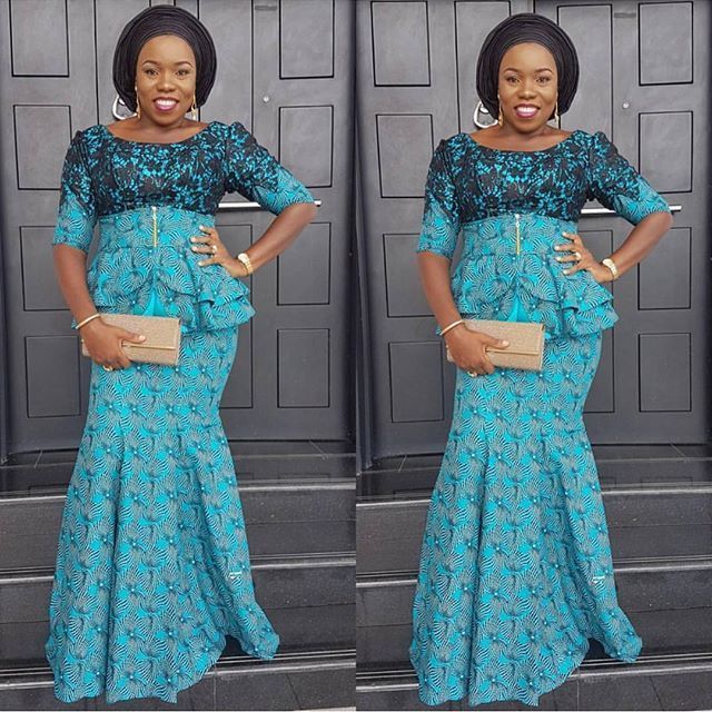 Mixed Ankara And Black Lace Styles Combinations For Nigerian Ladies ...