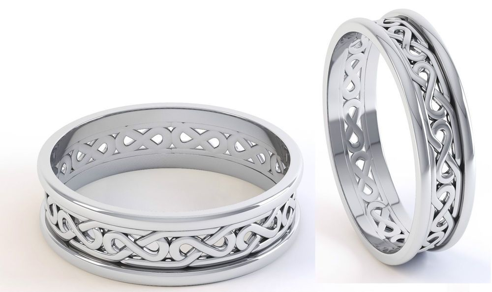 Set Sterling Silver Irish Handcrafted Irish Celtic Knot Wedding Set All Sizes Wedding Anniversary Rings Celtic Knot Wedding Celtic Wedding Rings