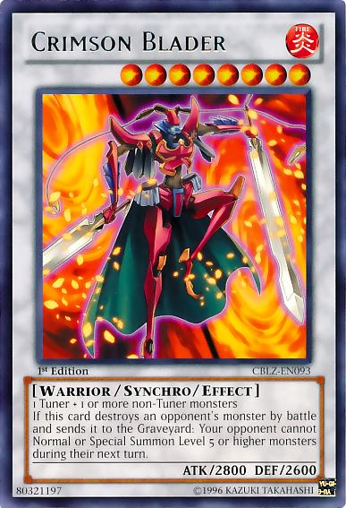 Crimson Blader Rare Yugioh Cards Yugioh Yugioh Cards