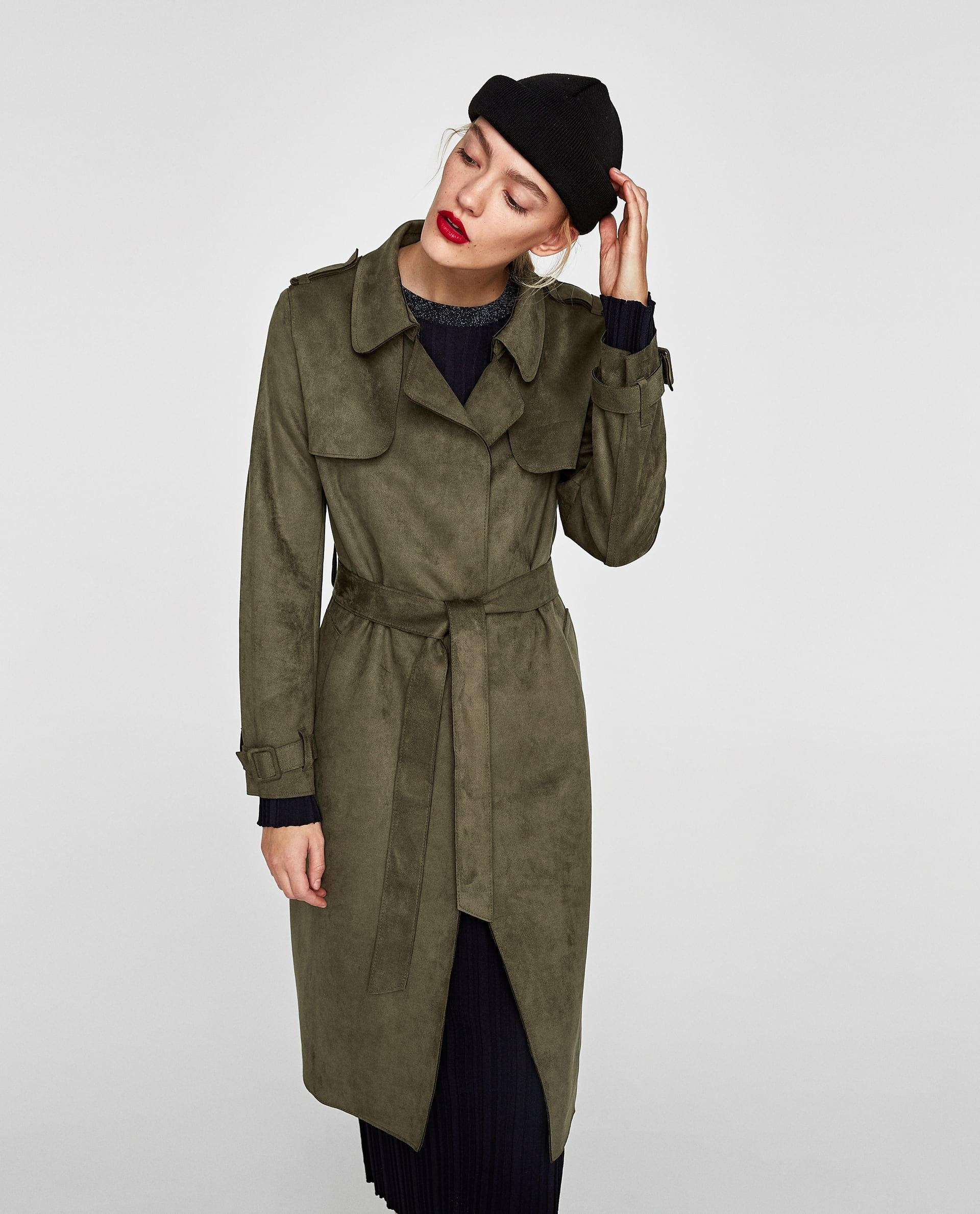 155ecdf9 Image 2 of FAUX SUEDE TRENCH COAT from Zara | WEAR | Suede trench ...
