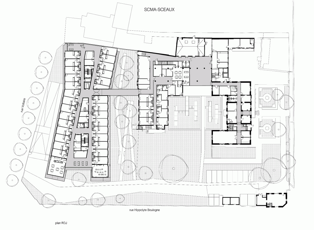 Gallery Of Maison De Retraite Philippe Dubus Architecte 20 Hotel Floor Plan Hotel Plan Floor Plans