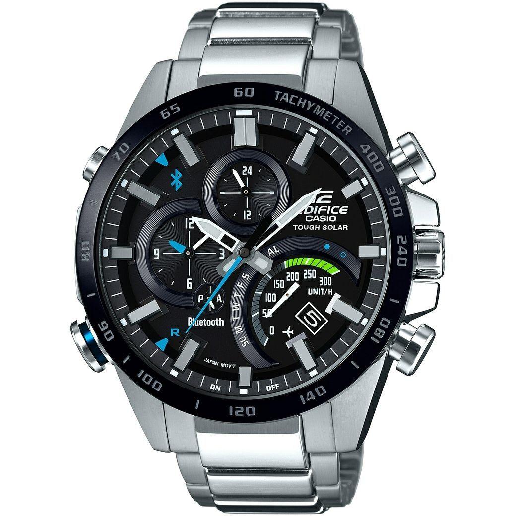 3f0119eb7b8d Casio Edifice Analogue Bluetooth Watch Tough Solar Black EQB-501XDB-1AER  Relojes Casio Hombre
