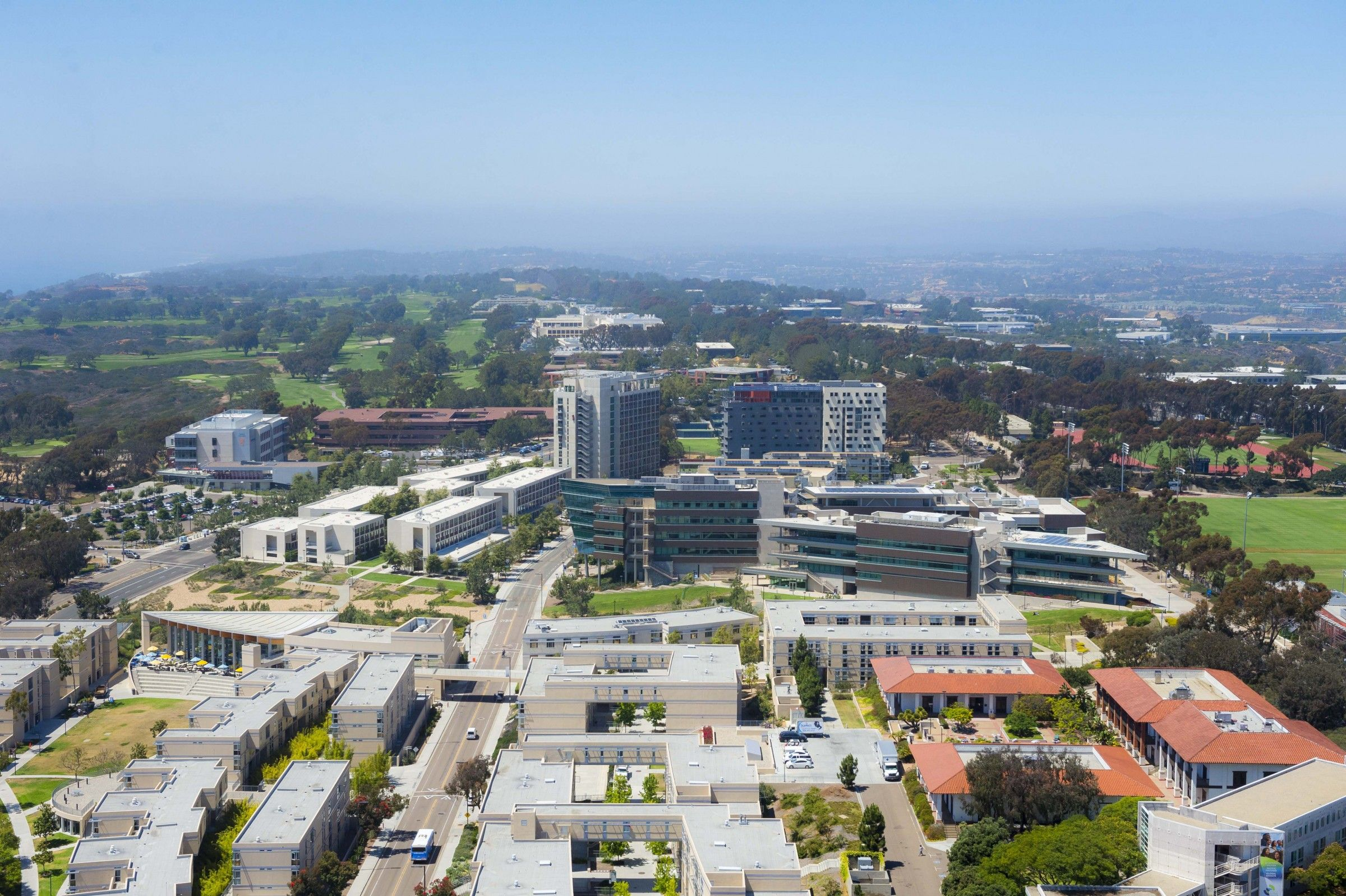 Aerial View Of Uc San Diego North Campus North Campus College Campus Campus