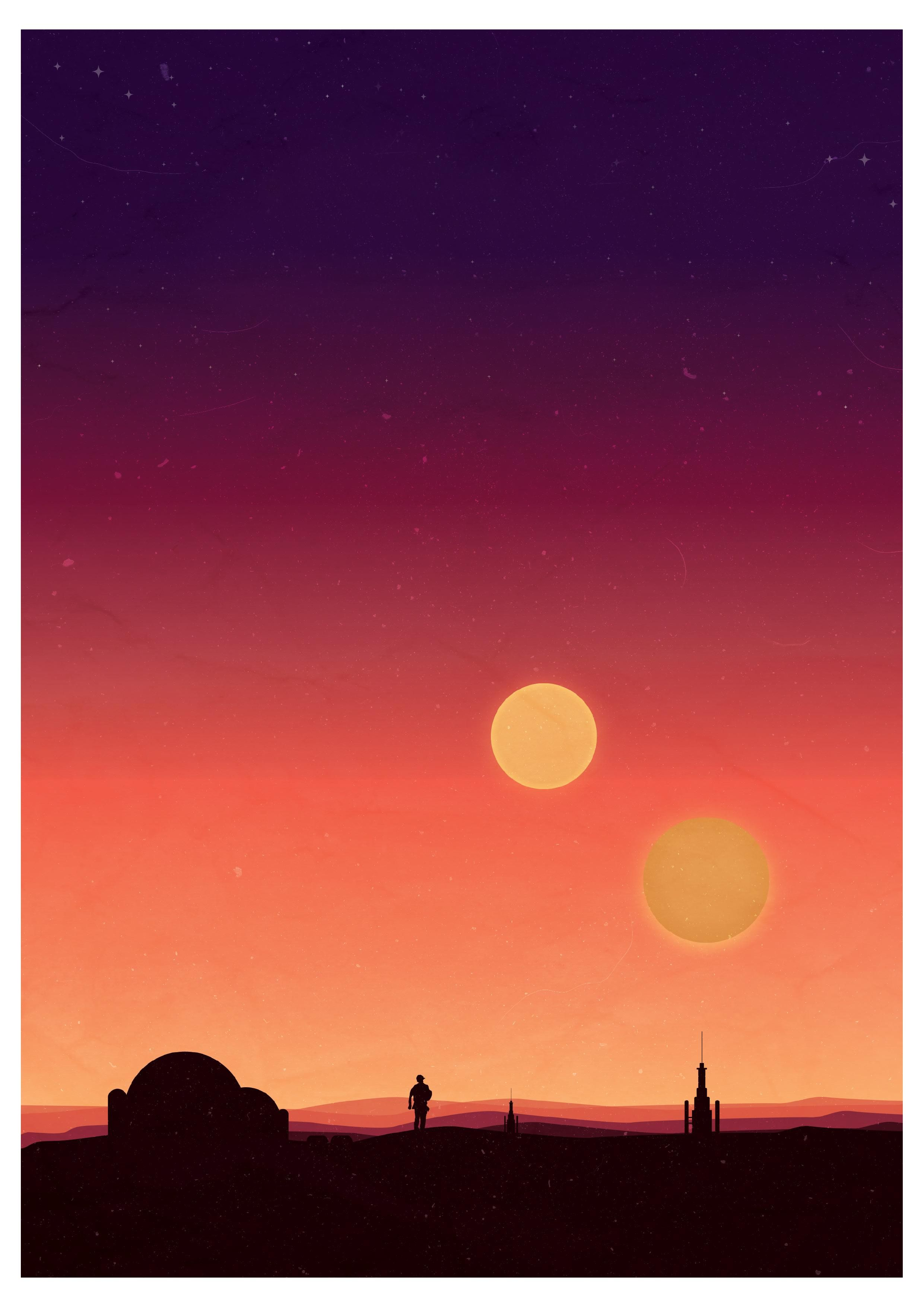 Star Wars Binary Sunset Poster I Made This One The Weekend Was