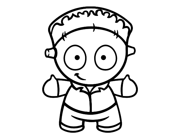 2d767373288ee Dibujo de Muñeco de Frankenstein para colorear