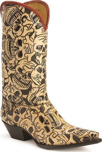 Cowgirl Boots With Skulls