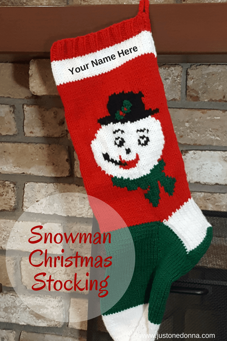 Hand Knit Christmas Stockings For Christmas In July