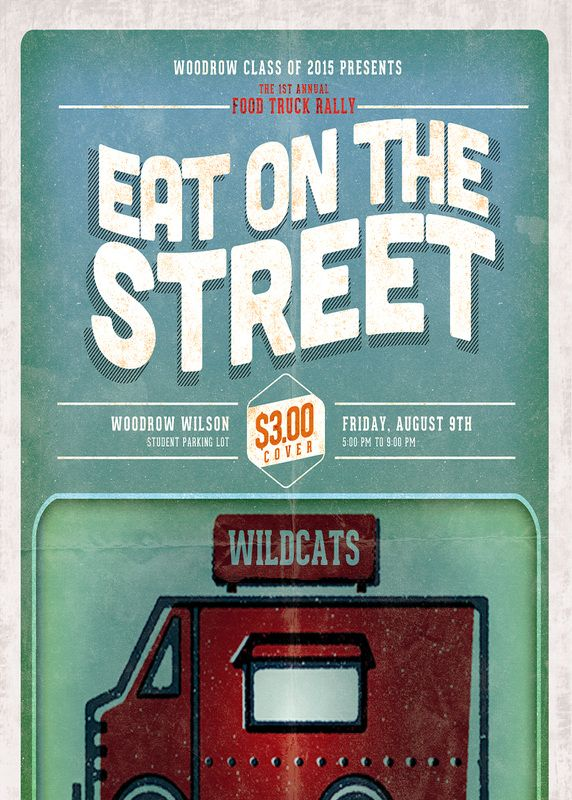 Food Truck Event Flyer Foodtruck I Like The Typography And Illustrated Style Food Truck Events Best Food Trucks Food Truck