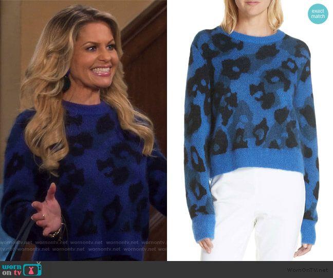 2af0d955a6 DJ s blue leopard spot sweater on Fuller House in 2019