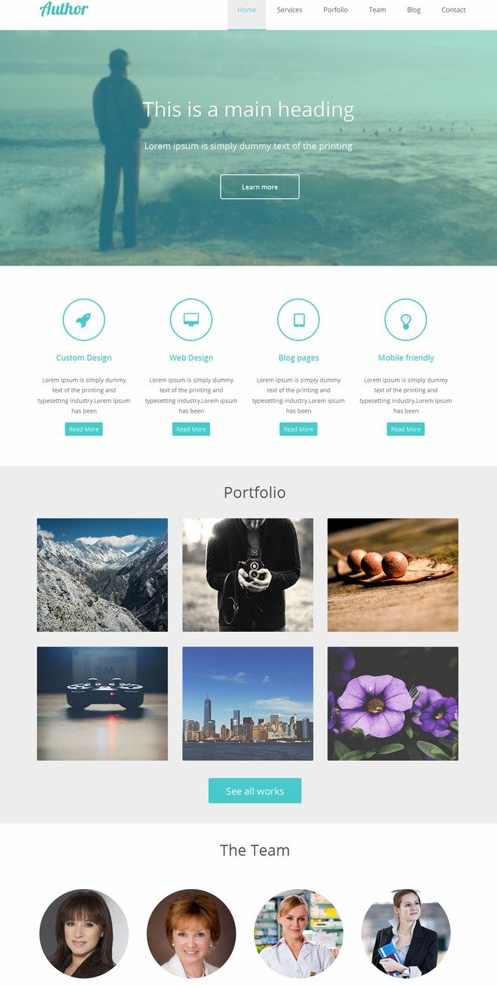 Personal Website Templates Free Download Html5 With Css3 Media