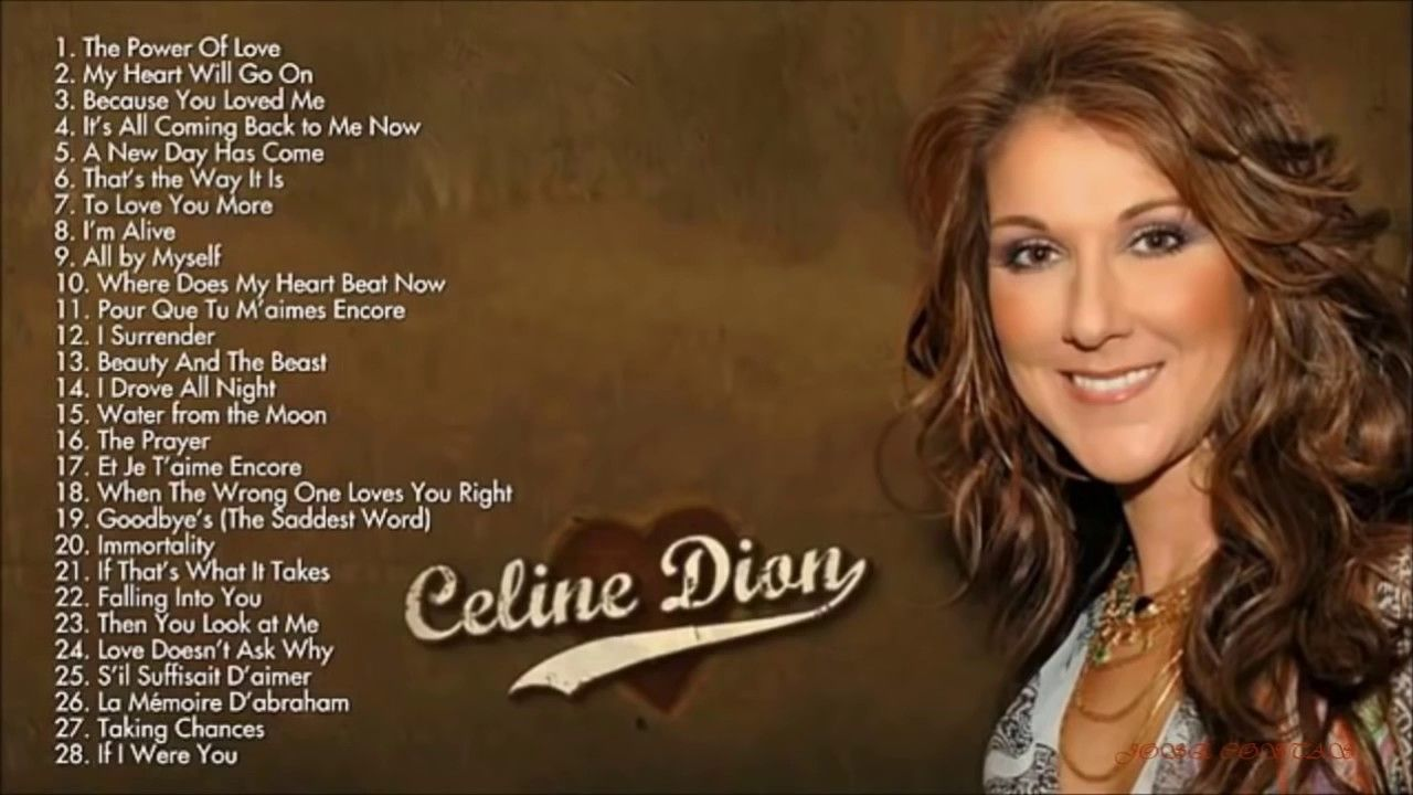 Celine dion because you loved me letra en ingles y español