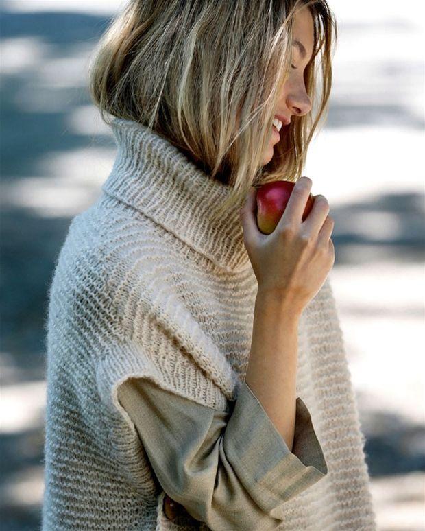 24c05f5269f Strik selv: Poncho-bluse - Hendes Verden | Strik og opskrifter ...