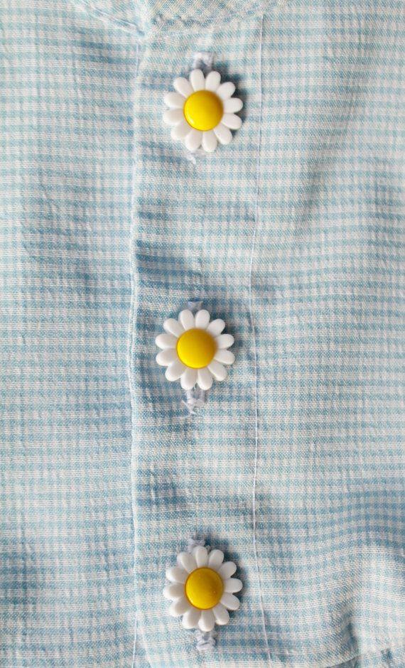 Vintage Toddler Dress in Blue Checkers 10-18 by ElleBelleVin