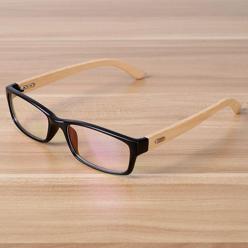 Click to Buy << NOSSA Handmade Bamboo Glasses Frame Women Men ...