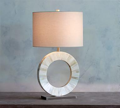 Bone Inlay Circle Table Lamp Base #potterybarn | Dartley Lighting ...