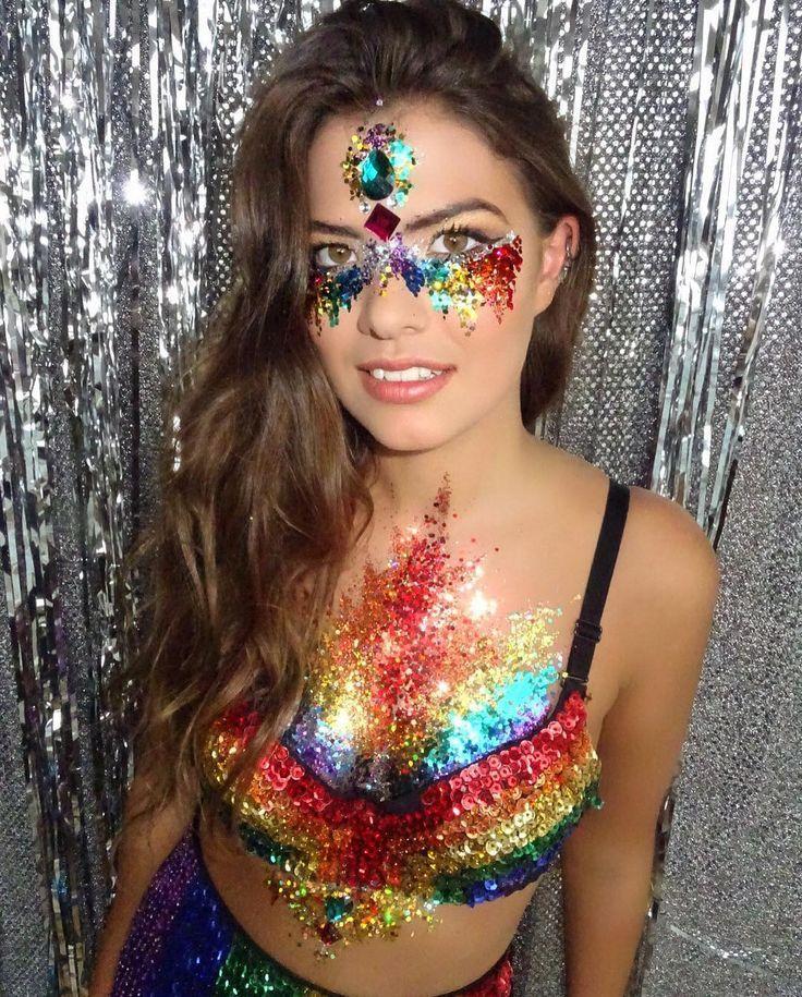 THE GYSPY SHRINE - RAINBOW GLITTER! #coachella Fashion #festival Fashion #festival Makeup # ...