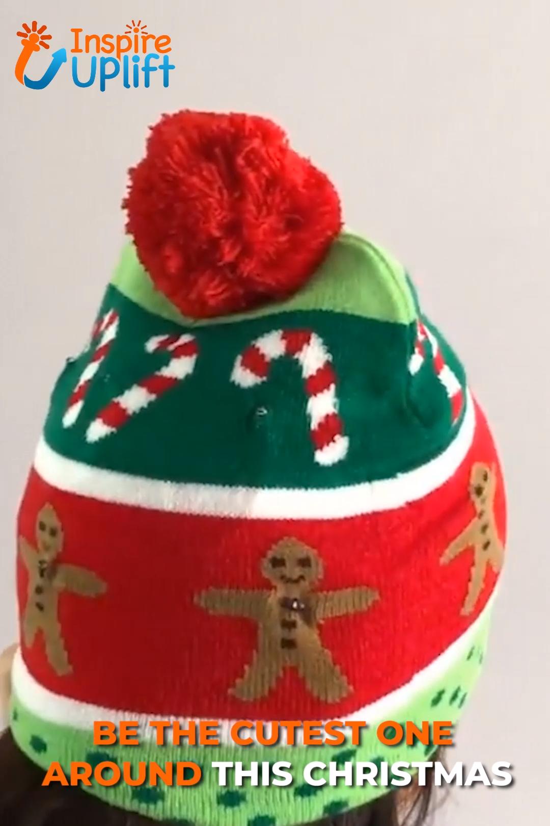 Christmas LED Beanie Hats 😍 InspireUplift.com