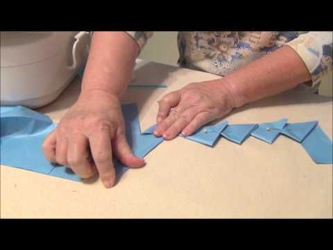 Cut, fold, and sew continuous prairie points with this video demonstration. Follow this method to make a continuous prairie point border from one piece of fabric. For printable step-by-step instructions on our site.