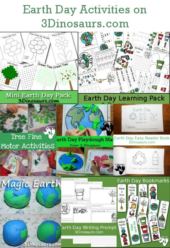 Free Earth Day Printables  Activities on 3 Dinosaurs  Preschool
