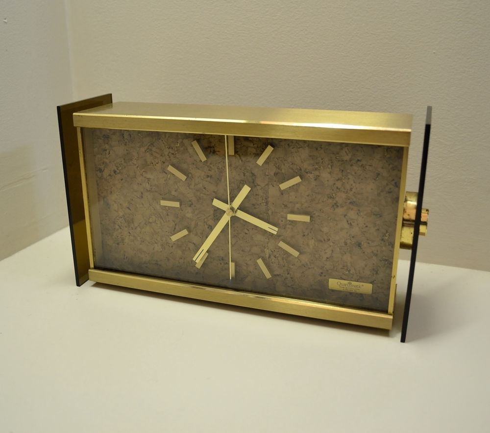 Early 70 s WESTCLOX USA Table Clock - Vintage Mid Century Modern