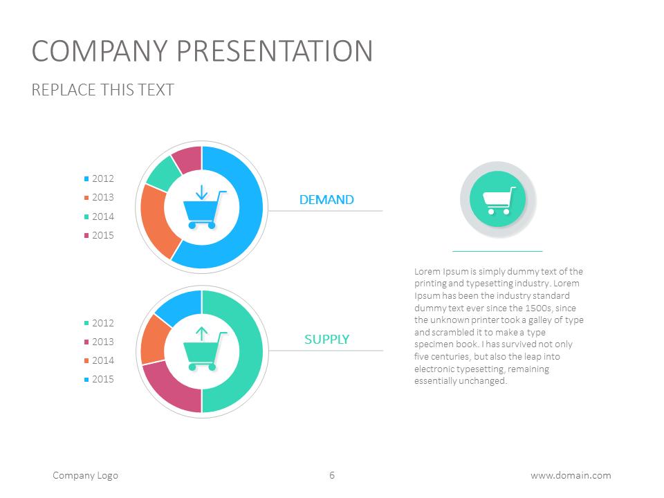 doughnut pie chart for powerpoint slidedesign presentation