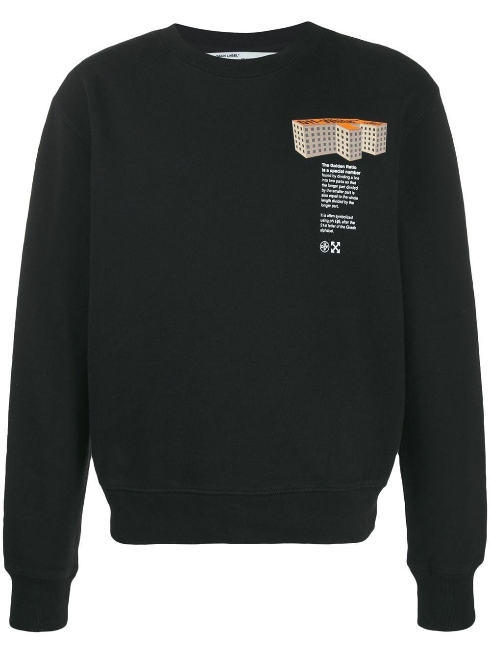 Off White F Building Sweatshirt Farfetch Off White Sweatshirt Sweatshirts Black Sweatshirts [ 1334 x 1000 Pixel ]