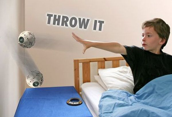 Jedi Training Remote Alarm Clock -- you throw it against the