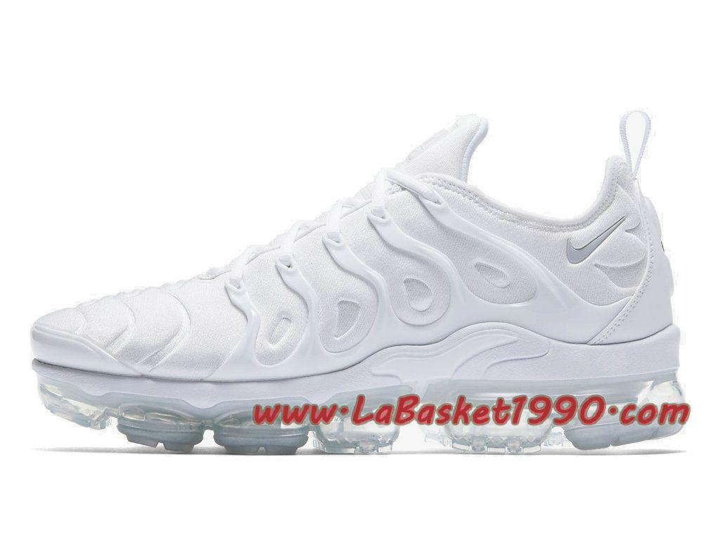 233d60b123a Nike Air VaporMax Plus Chaussures Nike VaporMax 2018 Pas Cher Pour HOmme  Blanc 924453-100
