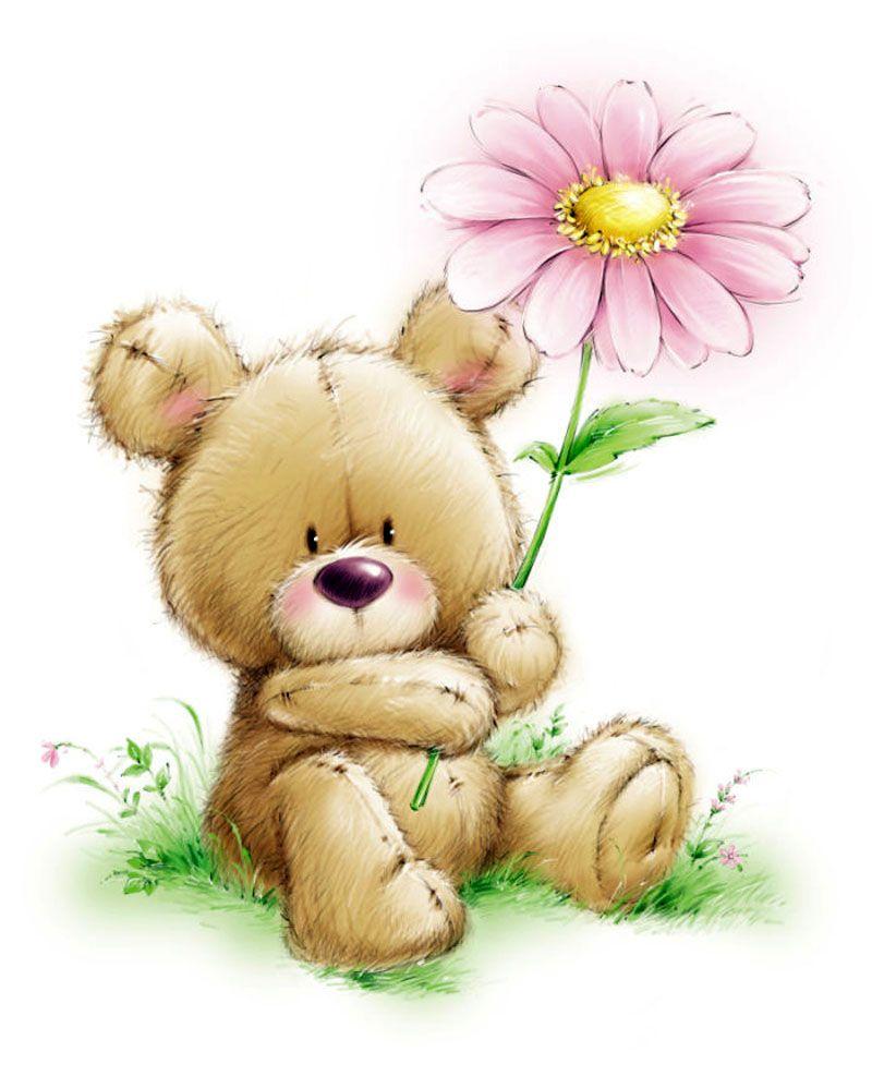 Красивые открытки с медвежатами с добрым утром любимая