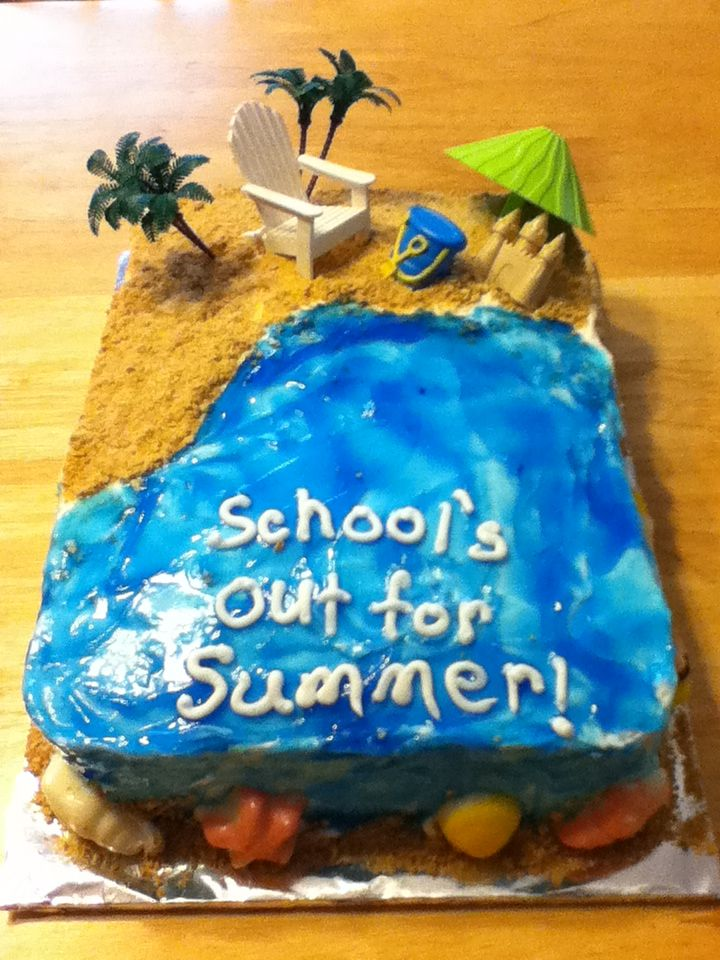 School S Out For Summer Cake With Images Summer Cakes Cake