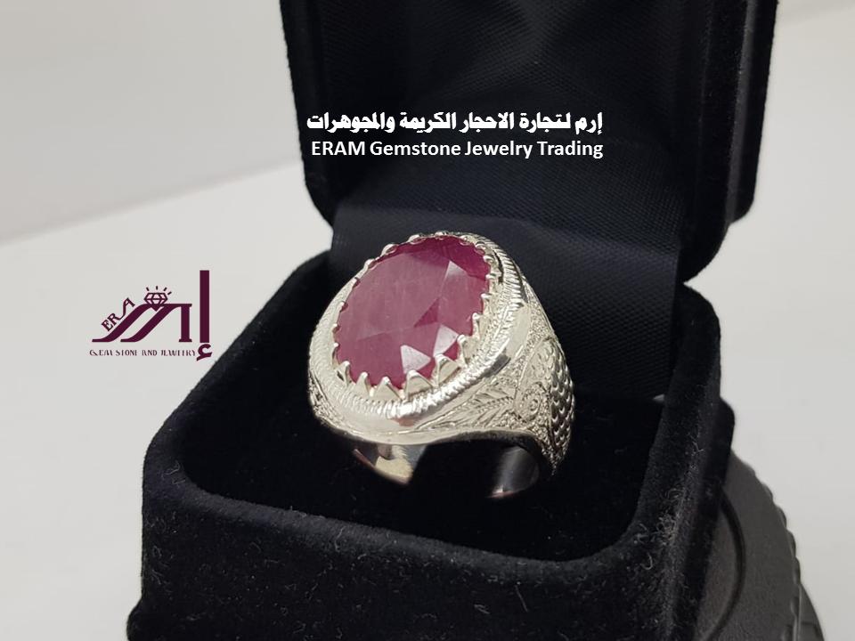اقتحم عالم النخبة خاتم ملكي ياقوت افريقي طبيعي100 Ruby للعرض Gemstone Jewelry Gemstones Jewelry