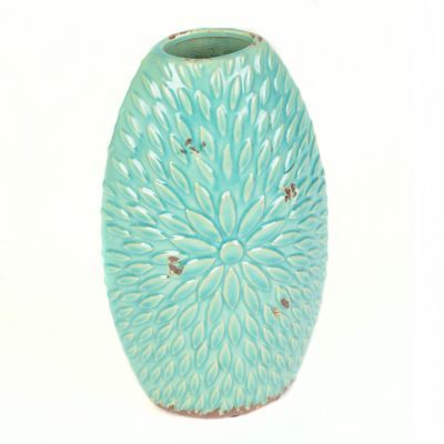 Turquoise Ceramic Flower Burst Vase Home Sweet Home Pinterest