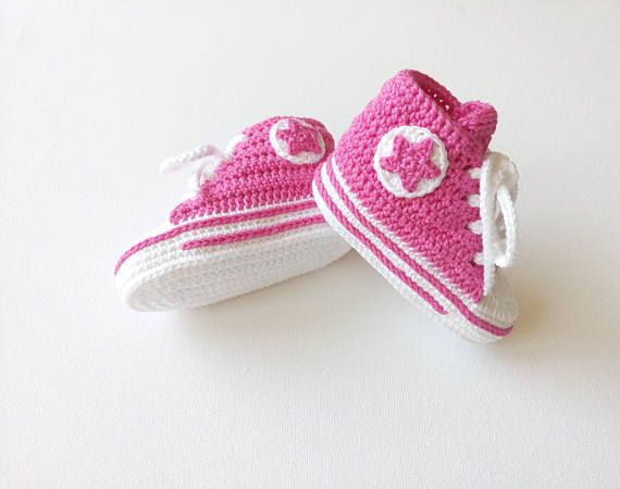 Baby Shoes Handmade Crochet Newborn Hat Booties Beanie Girl Pink Slides